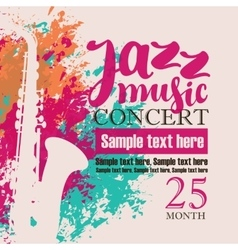 Concert of jazz music festival vector