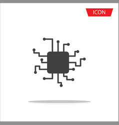 cpu icon central processing unit icon vector image