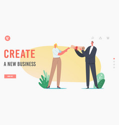Create new business company registration landing vector