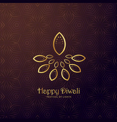 creative diya shape in golden color vector image