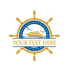 cruise ship sign and symbol logo vector image
