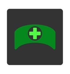 Doctor Cap Flat Button vector image