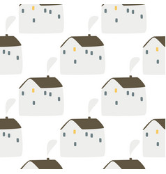 Doodle scandinavian house background simple vector