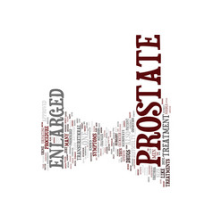 Enlarged prostate treatment text background word vector