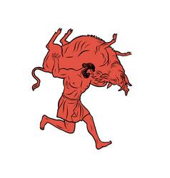 erymanthian boar 12 labours hercules heracles vector image