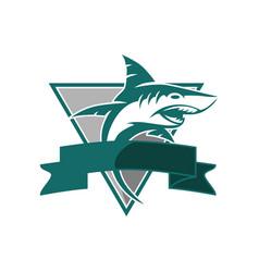 Esport shark logo vector