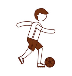 ethlete practicing soccer avatar vector image