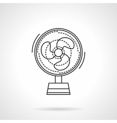 Fan flat line icon vector image