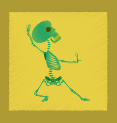flat shading style icon skeleton halloween monster vector image