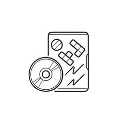 Game dvd hand drawn outline doodle icon vector