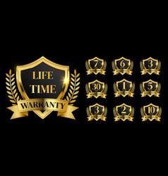 Golden warranty logo vector