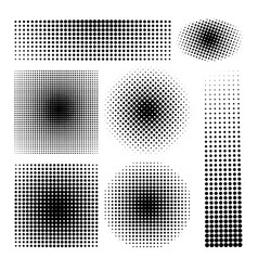 halftone gradients set vector image