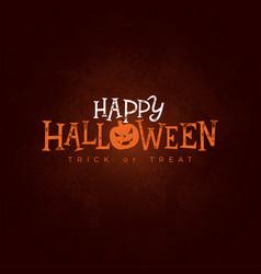 happy halloween banner with vector image