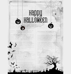 happy halloween holiday night celebration vector image vector image