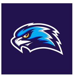 hawk head mascot vector image