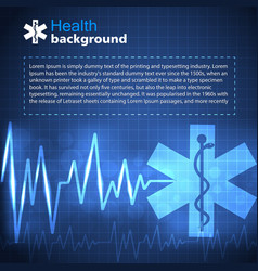 healthcare and medicine blue background vector image
