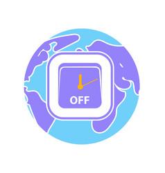 Icon earth hour vector