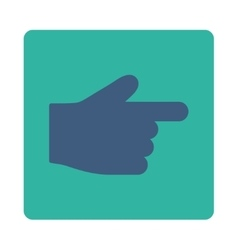 Index Finger flat cobalt and cyan colors rounded vector