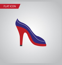 Isolated sandal flat icon heeled shoe vector