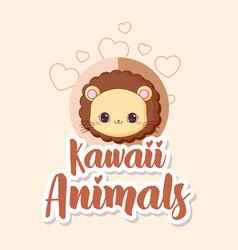 Kawaii animals design vector