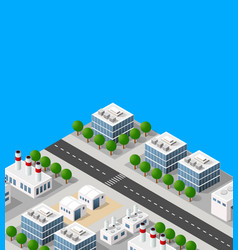 landscape industrial objects plant factories vector image