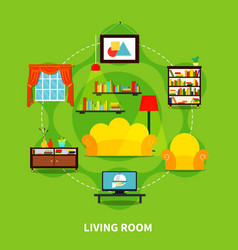 living room design vector image