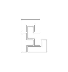 Maze flat icon vector