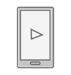 Mobile Phone Isolated on White Video Marketing vector image