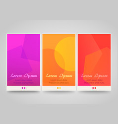 Modern colorful vertical banners vector