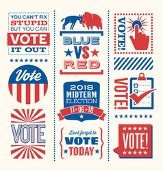 motivational designs to encourage the vote vector image