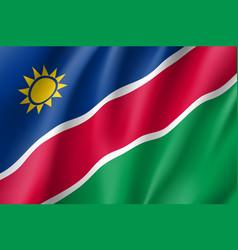 namibia realistic flag vector image