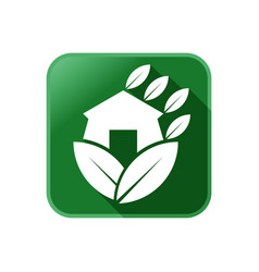 new custom green building logo vector image