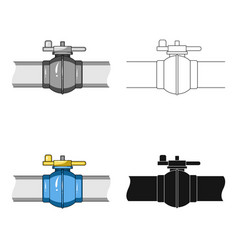 Pipeline shutteroil single icon in cartoon style vector