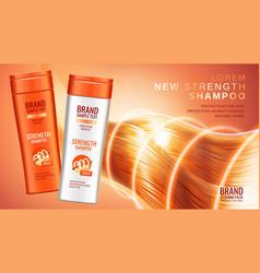 premium shampoo ads vector image