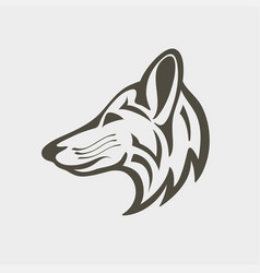 red fox logo design icon vector image