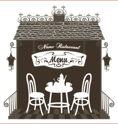 Restaurant in the old town vector