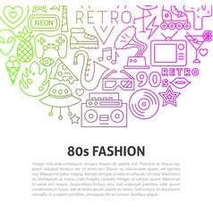 retro line concept vector image