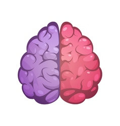 Right And Left Brain Symbolic Image vector