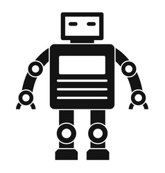 robot icon simple style vector image