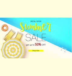 sales action summer offer get up to fifty vector image