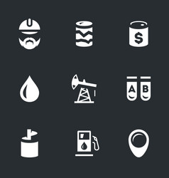 set of geology and oil icons vector image
