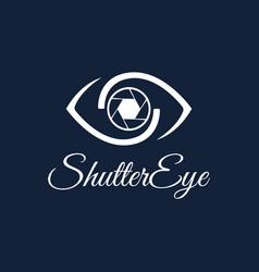 shutter eye photography logo design template vector image