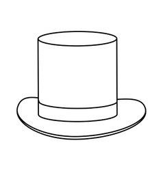 simple black tophat vector image