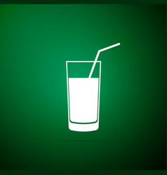 soft drink icon isolated on green background vector image