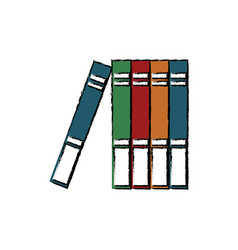 stack books learn literature library office vector image