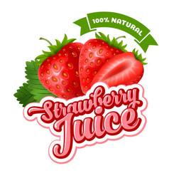 strawberry juice vector image