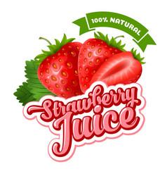 Strawberry juice vector