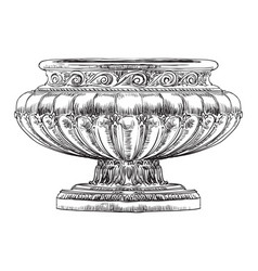 Street vase vector