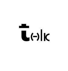 talk logo talk icon design vector image