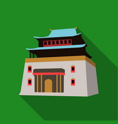 Three-storey building in mongoliamongolian vector
